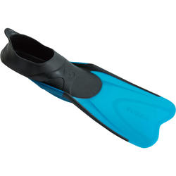 ADULT SNORKELING FINS SNK 500 - TURQUOISE BLACK