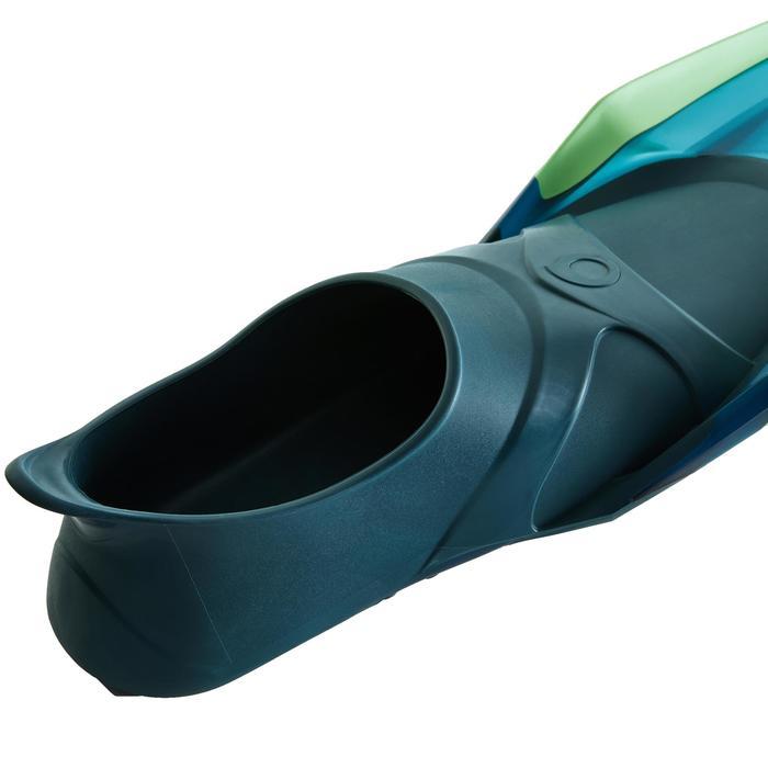Palmes de snorkeling ou de plongée bouteille SNK 540 adulte turquoises rouges - 1261892