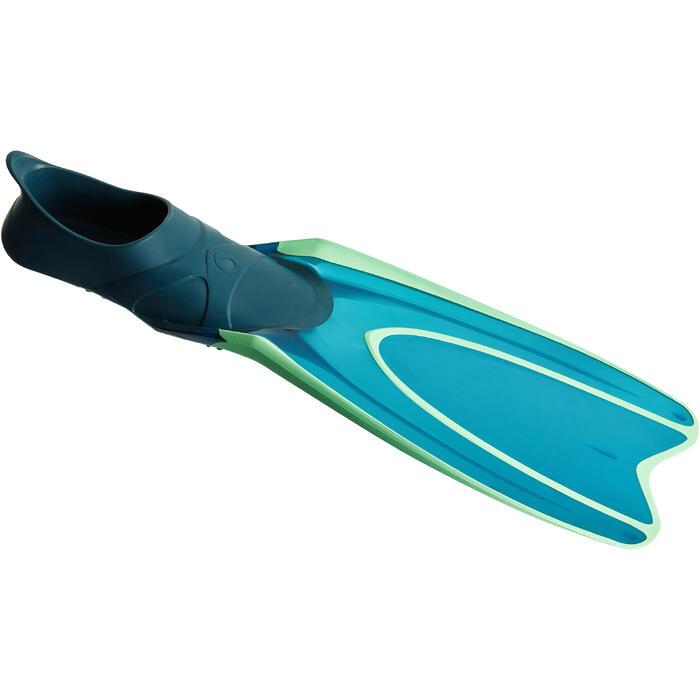 Palmes de snorkeling ou de plongée bouteille SNK 540 adulte turquoises rouges - 1261896