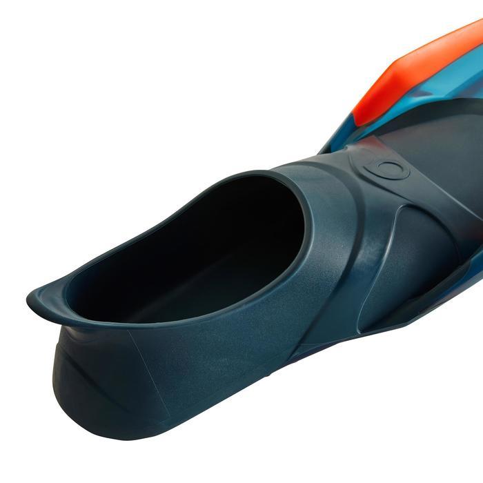 Palmes de snorkeling ou de plongée bouteille SNK 540 adulte turquoises rouges - 1261897