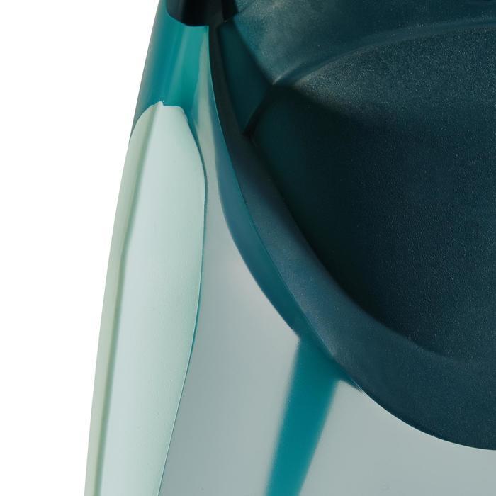 Palmes de snorkeling ou de plongée bouteille SNK 540 adulte turquoises rouges - 1261898