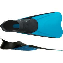 Snorkelvinnen voor volwassenen SNK 500 zwart/turquoise