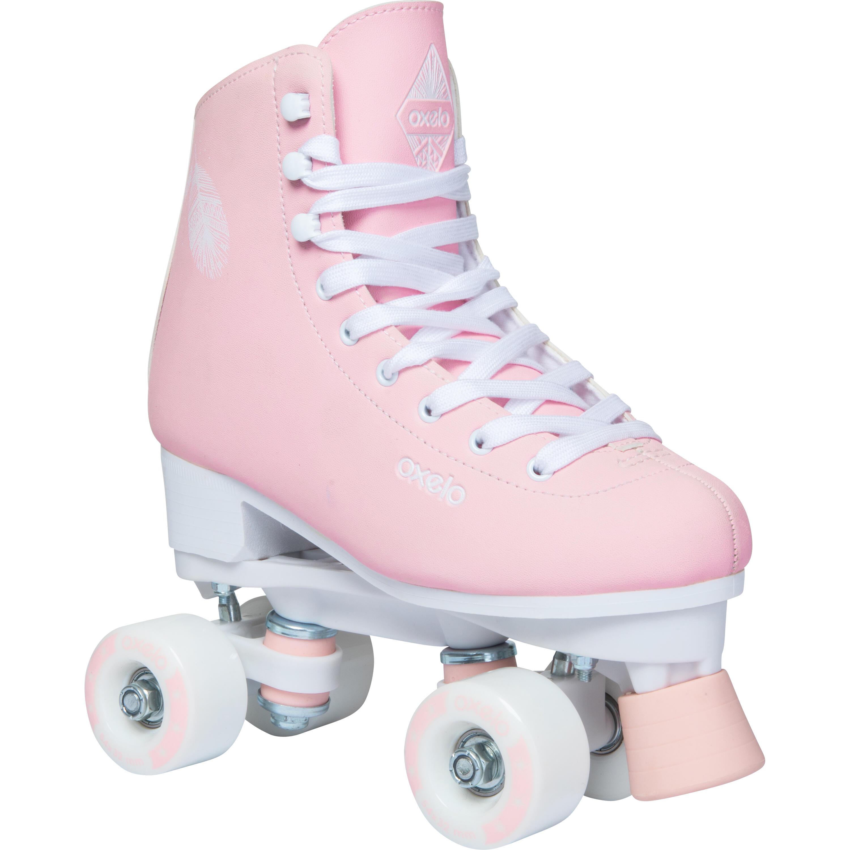 color rosa 6A‑8A Patines en paralelo de Rio Roller