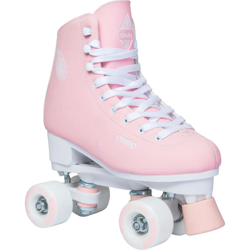 ARTISTIC QUADS Outdoor Activities - 100 Quad Skates - Pink OXELO - Kids
