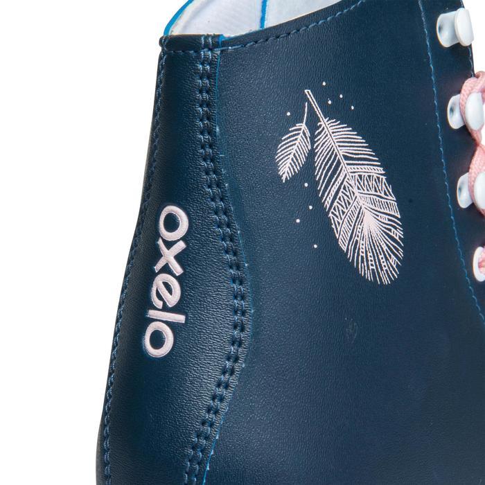 Kunstlauf-Rollschuhe Quad 100 marineblau