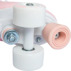 Rollschuhe Kunstlauf Quad 100 rosa