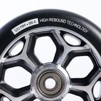 120mm Grey Alu Core Black PU Freestyle Scooter Wheel