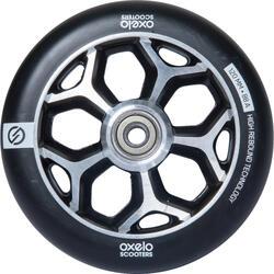 Roda de trotinete freestyle core alumínio cinzento PU preto 120 mm
