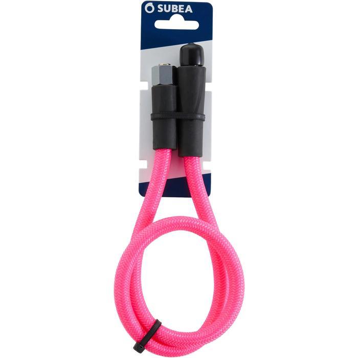 Latiguillo Regulador Buceo Subea Hyperflex Trenzado SCD Rosa Flúor 76cm