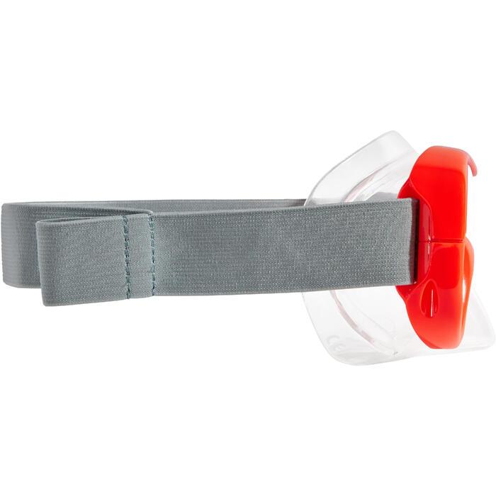 Duikbril SNK 500 voor snorkelen, kinderen en volwassenen fluorood - 1261979