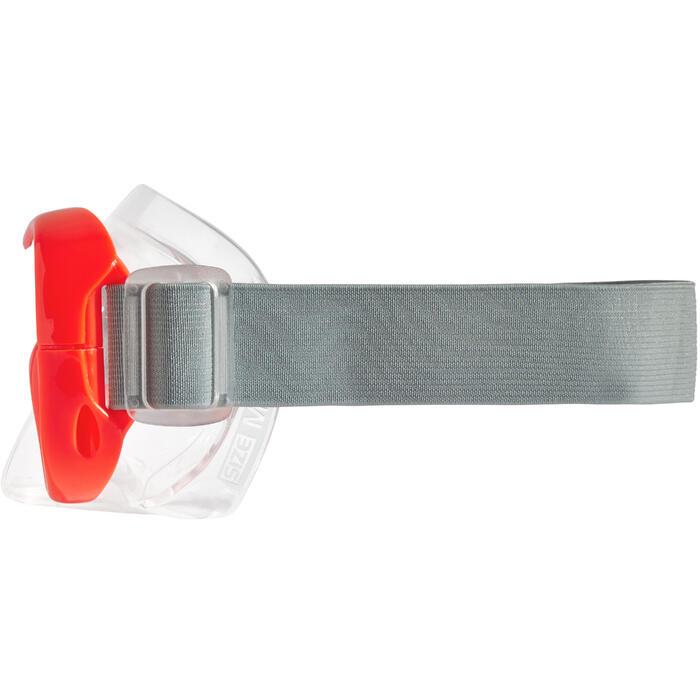 Máscara Snorkel Buceo Apnea Subea FRD100 Adulto/Niños Rojo Fluorescente Gris