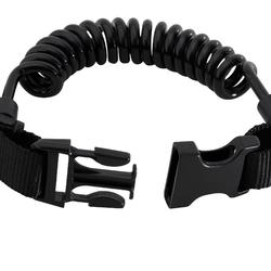 SCUBA diving spiral light holder clip with ring