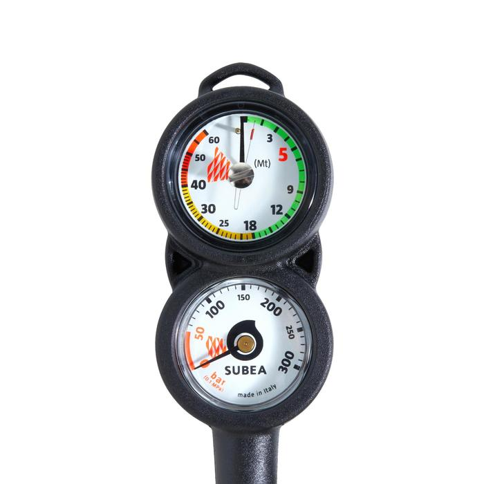 SCD diving console with pressure and depth gauge