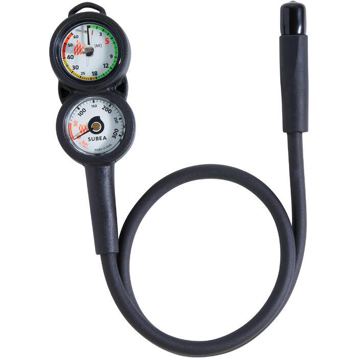 Consola com Manómetro e Profundímetro de Mergulho com Garrafa SCD