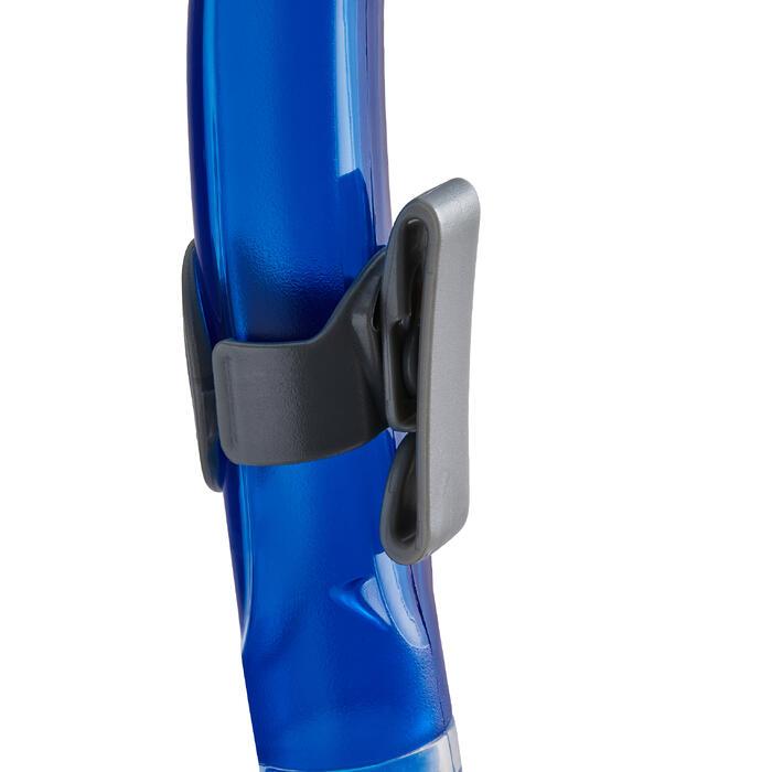 Snorkel voor snorkelen of diepzeeduiken Ergo Dry transparant en blauw Mares