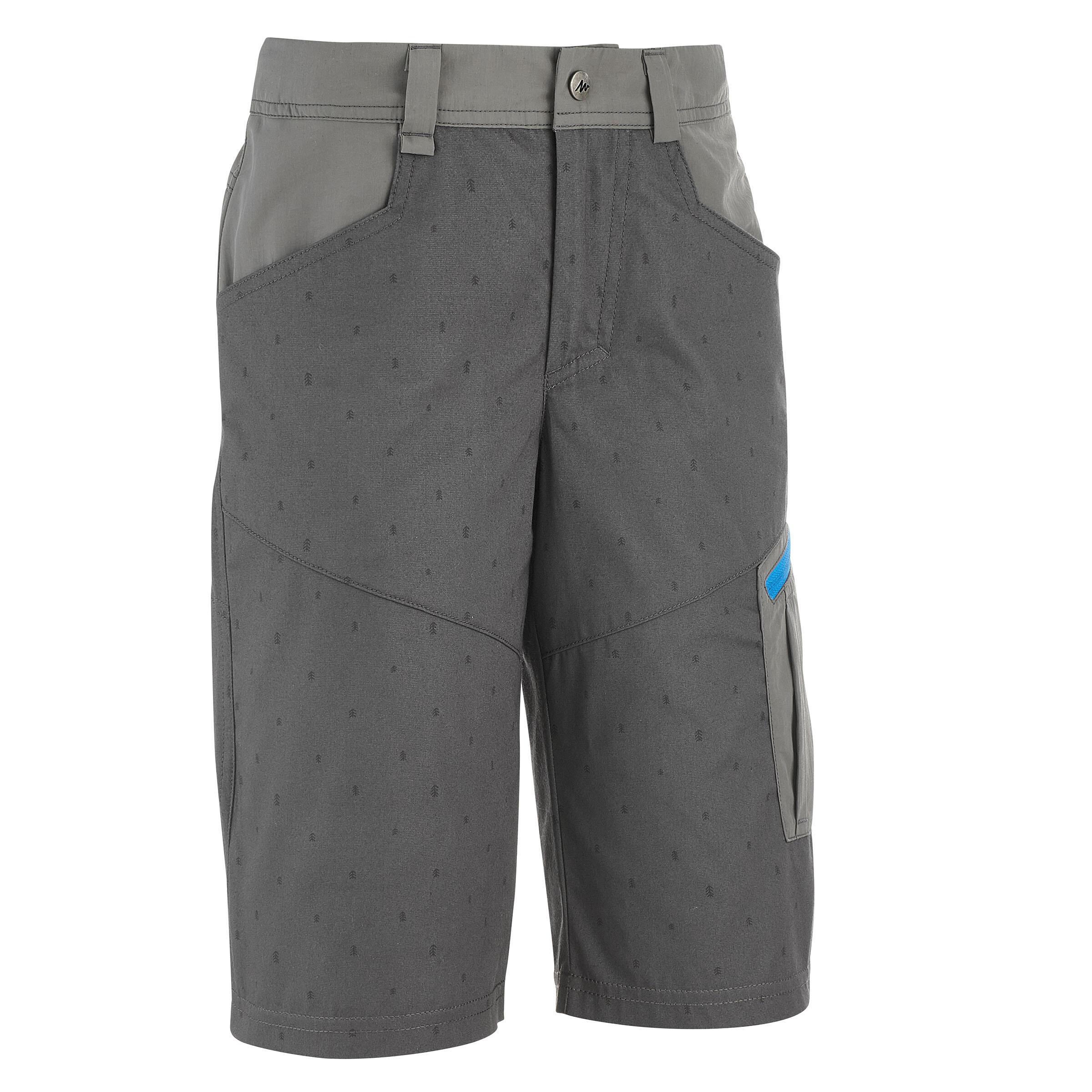 Kid's Hiking Shorts Hike 500 - Grey