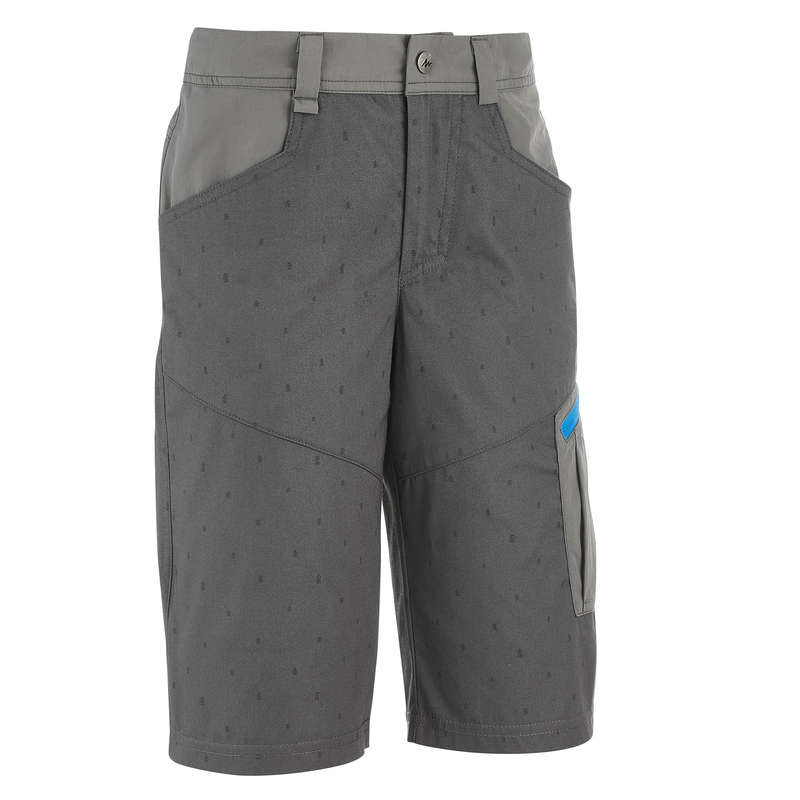 SHORTS T-SHIRTS HATS REGULAR 7-15 yrs Hiking - HIKE 500 BOYS' SHORTS QUECHUA - Hiking Clothes