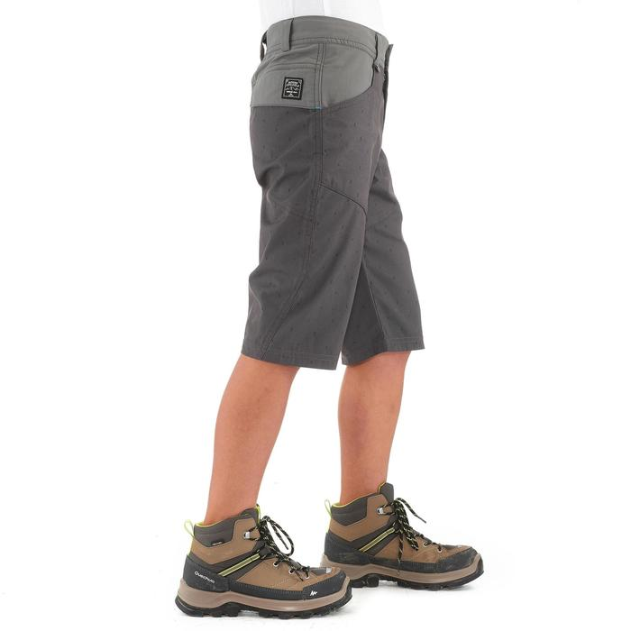 Pantalón corto de senderismo júnior Hike 500 gris estampado