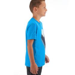 Kaus Hiking Anak MH100 - Biru 7 HINGGA 15 TAHUN