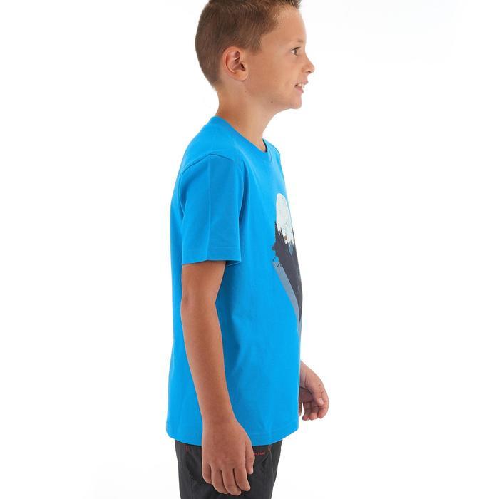 T-SHIRT de randonnée enfant MH100 bleu 7 A 15 ANS