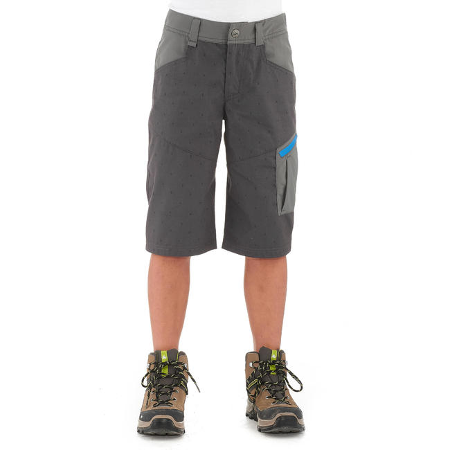 Kid's Hiking Shorts Hike500 - Grey