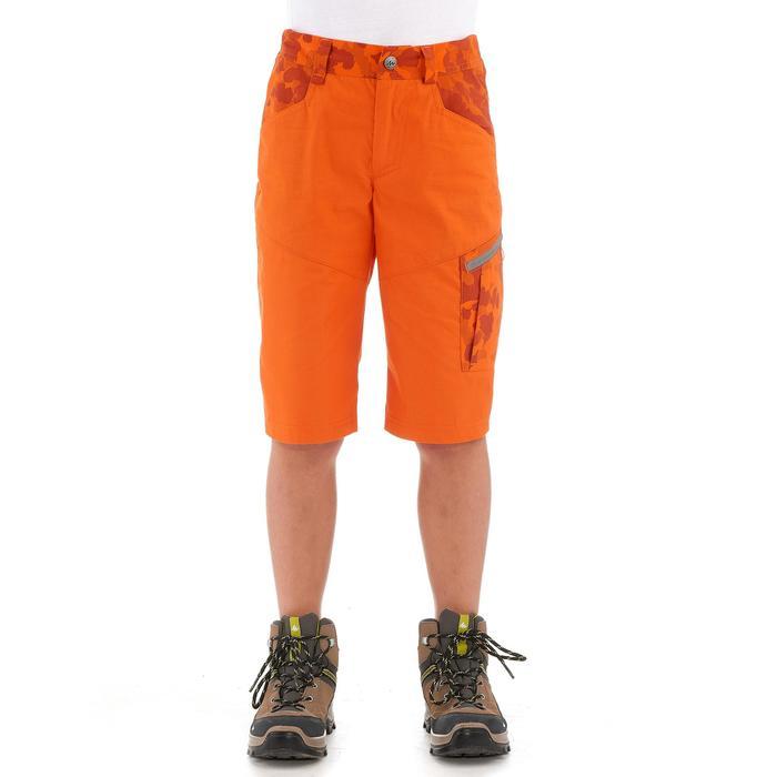 Wandelshort voor jongens Hike 500 oranje