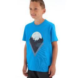 MH100 Children's Hiking T-shirt - Blue 7 TO 15 YEARS