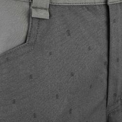 Short de randonnee enfant Hike 500 gris printé