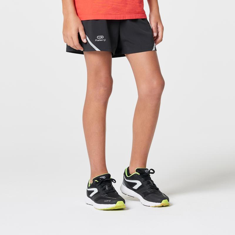 KIPRUN children's athletics shorts black fluo