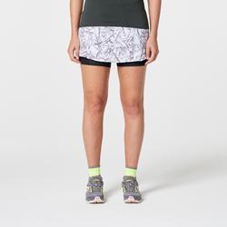 Women's trail running skort - graph white