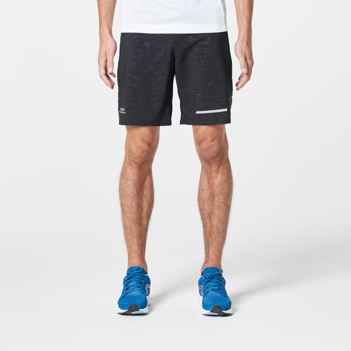 RUN DRY+ MEN'S RUNNING SHORTS - BLACK/PRINT