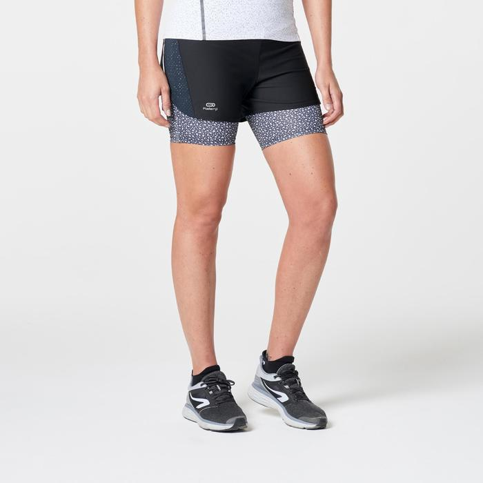Joggingshort voor dames Run Dry+ 2 in 1 zwart