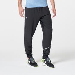Pantalon Largo Depotivo Running Kalenji Run Dry Hombre Negro