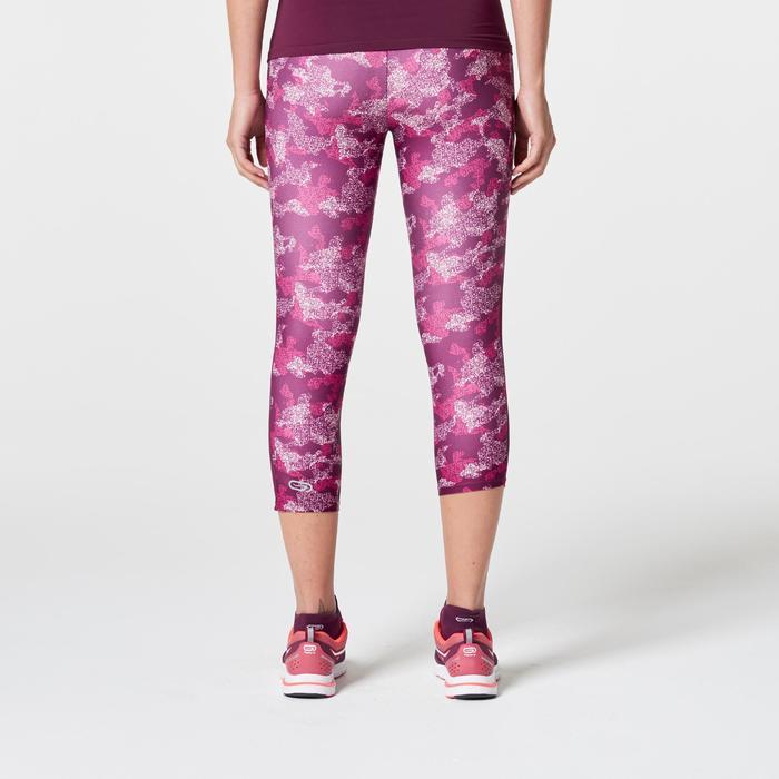Laufhose 3/4 Run Dry+ Damen rosa Tarnmuster