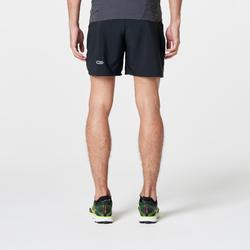 Short-mallas cortas trail running hombre negro amarillo