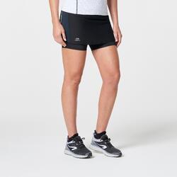 Rokje voor jogging Run Dry+ 2 in 1 zwart