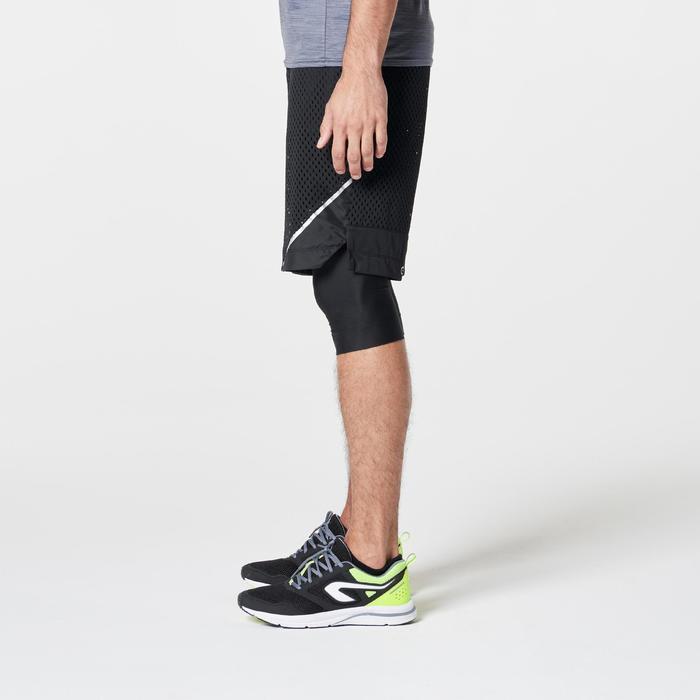 SHORT RUNNING HOMME RUN DRY + BREATHE NOIR - 1262793