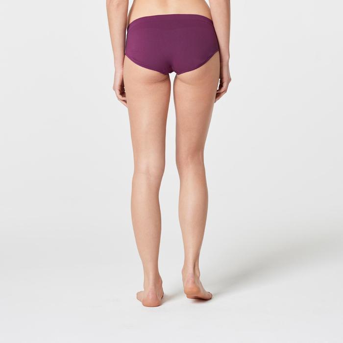 Sportunterhose atmungsaktiv Laufen Damen pflaume