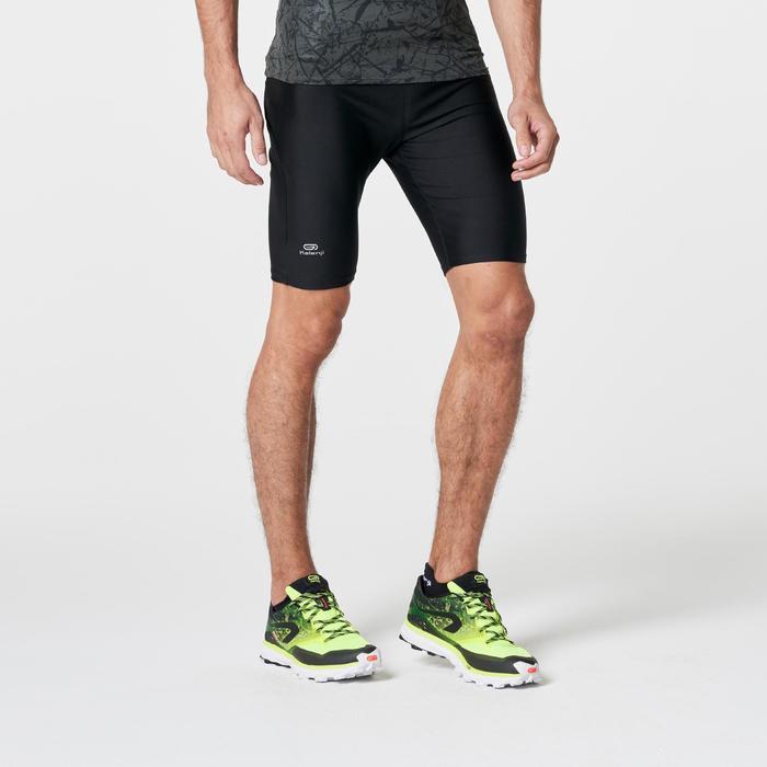Cuissard trail running noir jaune homme - 1262814