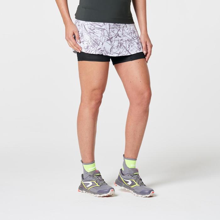 Falda-pantalón trail running mujer blanco graph