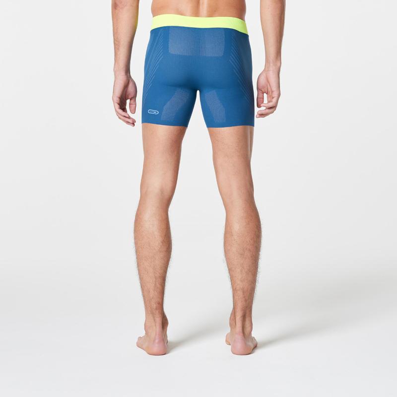 Men's Seamless Running Boxers - Blue