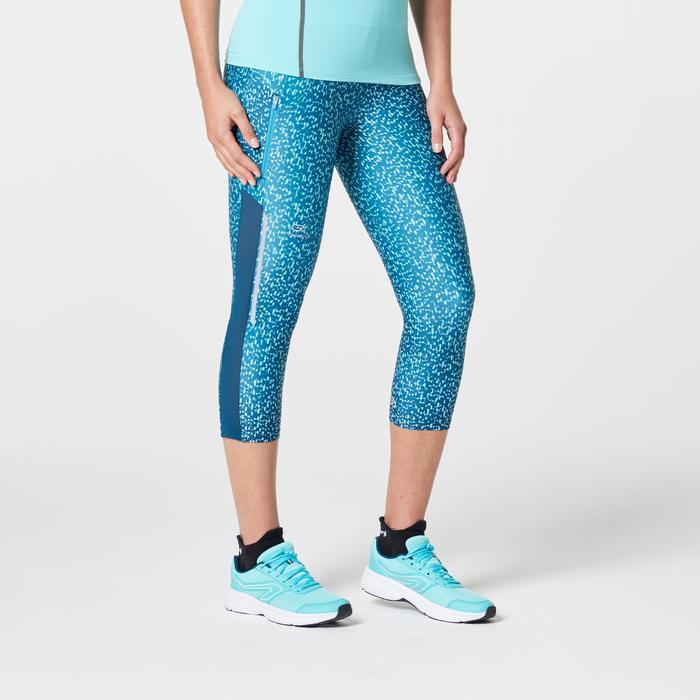 Driekwartbroek voor jogging dames Run Dry+ groen