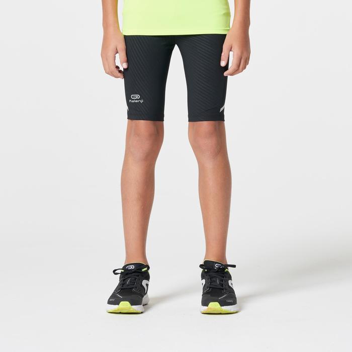 Cuissard Athlétisme Enfant Kiprun Noir jaune fluo - 1262870