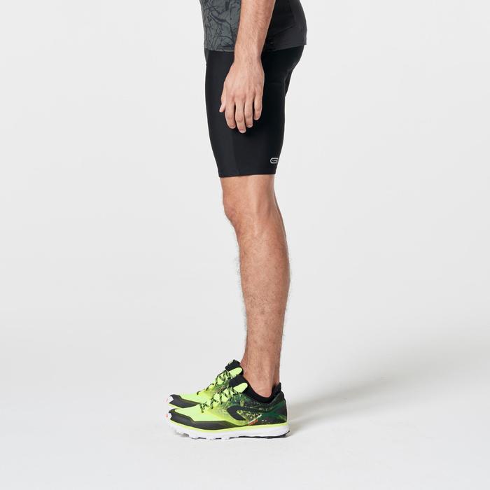 Cuissard trail running noir jaune homme - 1262876
