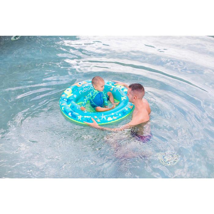 """Shorty swim bébé manches longues bleu et vert imprimé """"Monkey"""" - 1262878"""