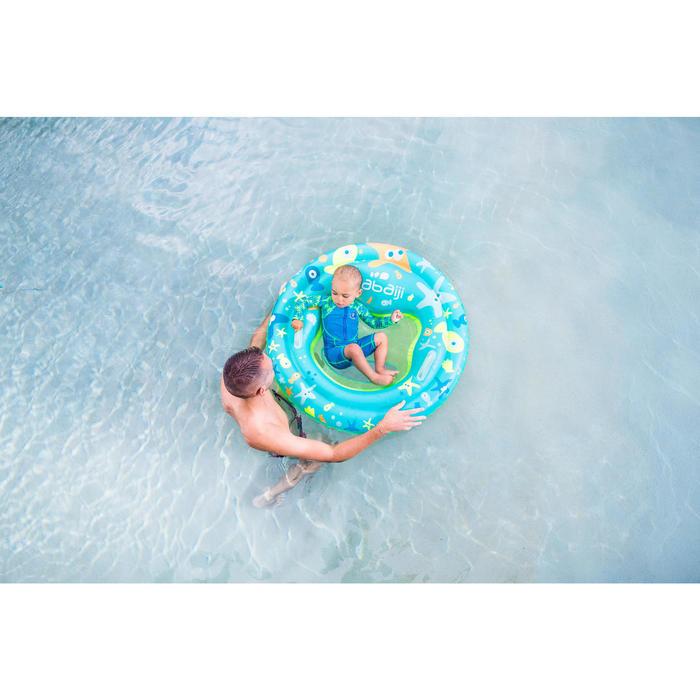 """Shorty swim bébé manches longues bleu et vert imprimé """"Monkey"""" - 1262888"""