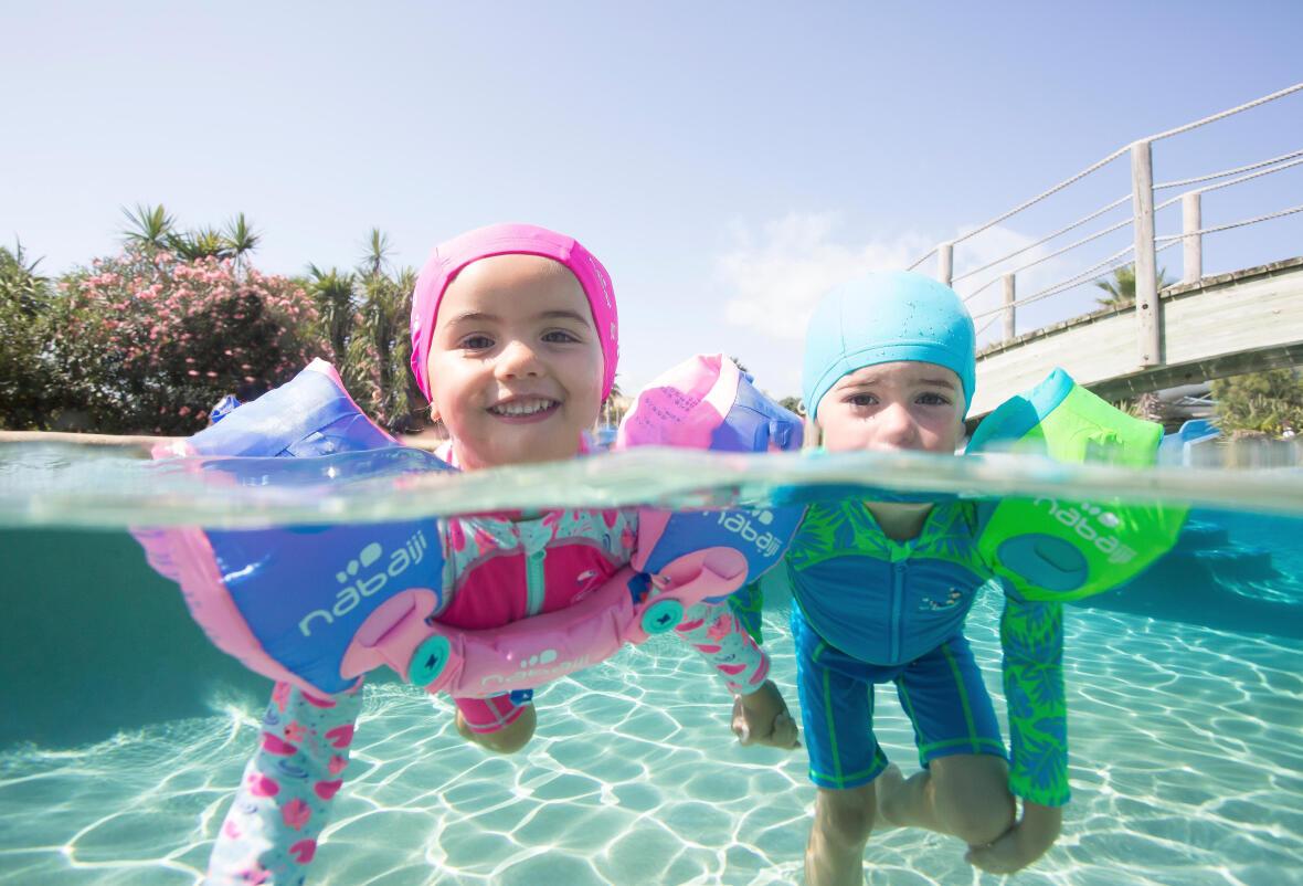 kids having fun in a pool