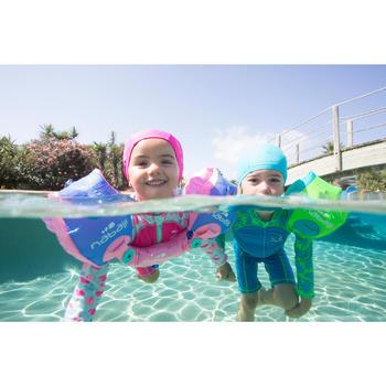 嬰幼兒長袖連身泳裝粉色印花