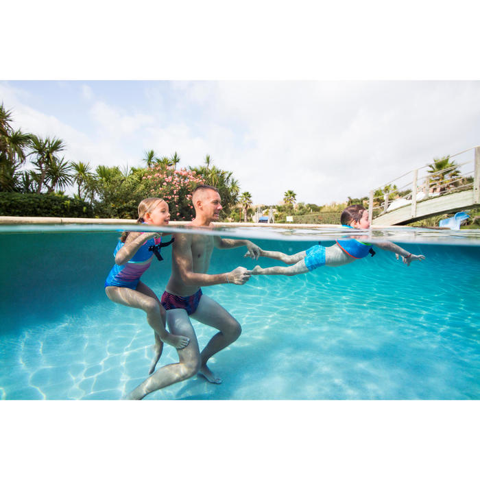 Gilet de natation SWIMVEST+ bleu-vert