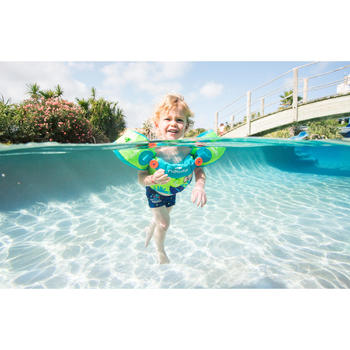 Modulaire zwemhulp TISWIM kinderen groen met aapprint